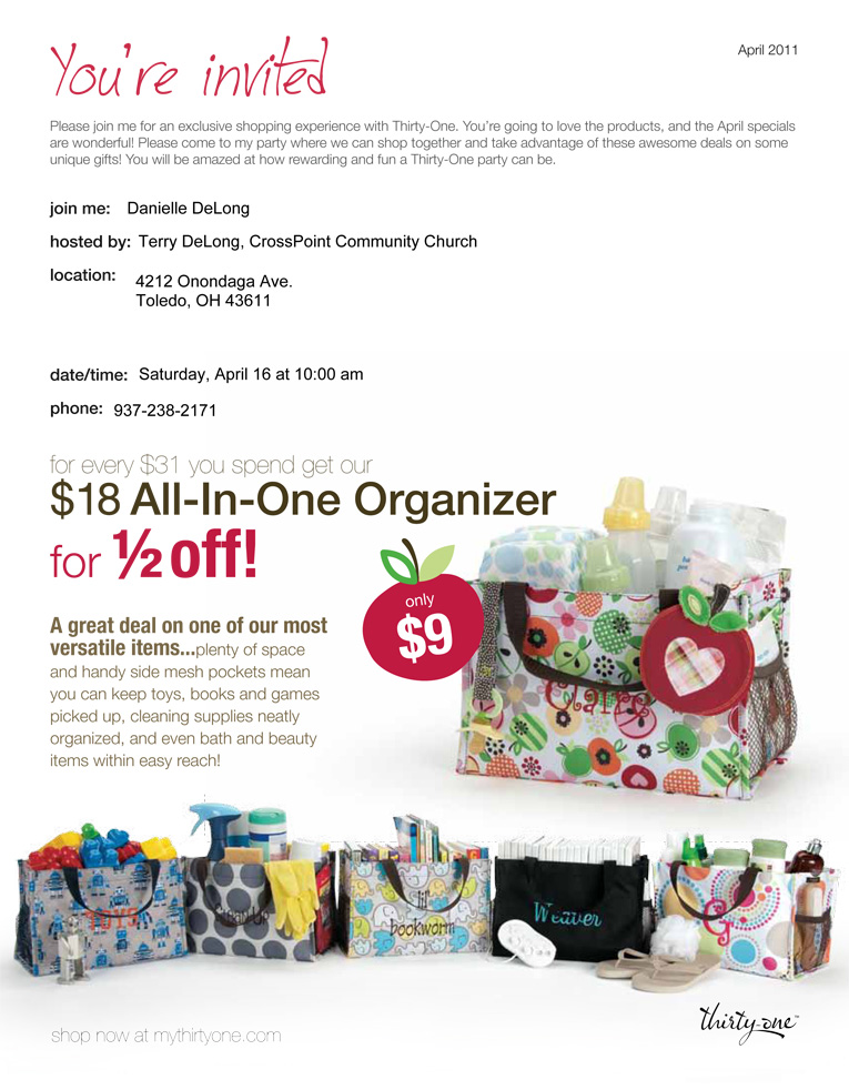 ThirtyOne party fundraiser for Peru missions trip – 31 Party Invite