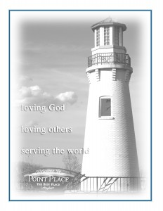 Lighthouse with mission statement