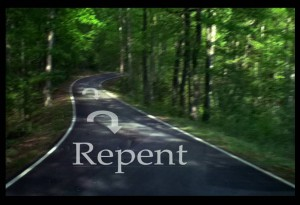 Repent turn around framed