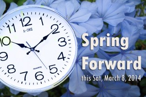 Spring forward 2014 banner