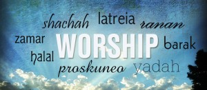 Worship words banner